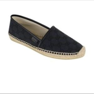 With Gucci espadrilles